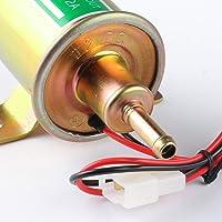 12v Autly Pompe Carburant Electrique Essence Diesel Pompe électrique Universel Heavy Duty Aluminium (D'or)