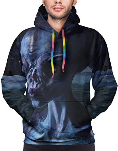 Alion Mens Winter 3D Digital Pullover Sport Running Athletic Hoodie Sweatshirt with Pockets