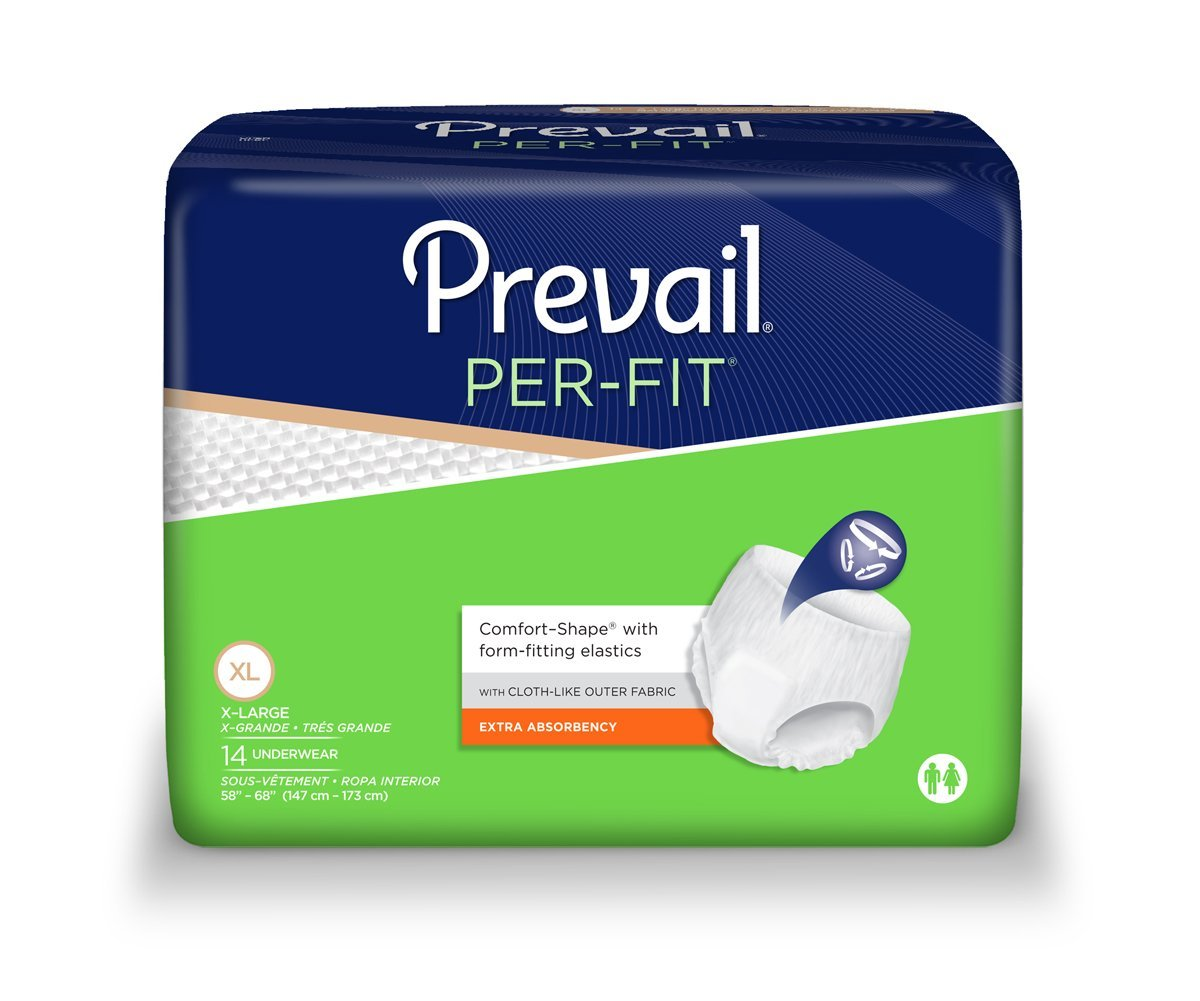 Amazon.com: Prevail Per-Fit Extra Absorbency Incontinence Underwear, Extra Large, 14-Count: Health & Personal Care