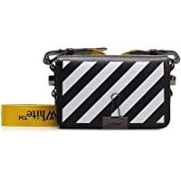 Luxury Fashion | Off-white Dames OWNA038E20LEA0031001 Zwart Leer Messengertassen | Herfst-winter 20