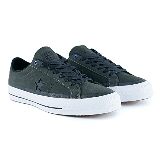 Converse Cons One Star Pro Suede OX, cast iron-black-white, 11