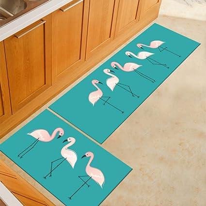 amazon com gsyddtg flamingo cat kitchen mat animal printed kitchenimage unavailable image not available for color gsyddtg flamingo cat kitchen mat animal printed