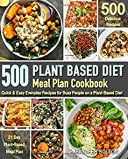 Plant Based  Meal Plan Cookbook: 500 Quick & Easy Everyday Recipes for Busy People on A Plant Based Diet  | 21-Day Plant-Base