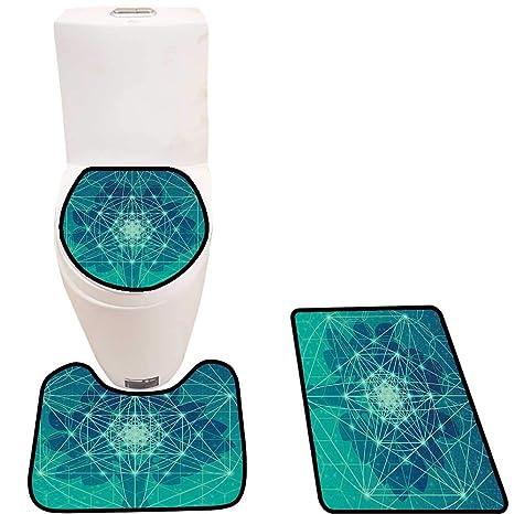 Amazon.com: Cojín de inodoro entrelazado con diseño de ...