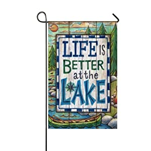 Seasonal Garden Flag - Durable Double Sided Weatherproof Yard Flags- Life's Better at The Lake