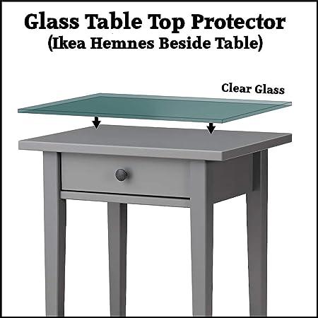 Ikea Tavoli Di Vetro.Protezione Per Tavolo In Vetro Temprato Di Sicurezza Ikea Hemnes