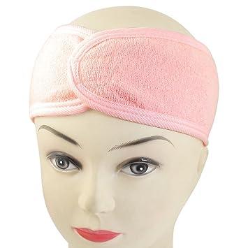 Spa Bath Shower Make Up Wash Face Cosmetic Headband Hair Band Pink ... 813f8898eef3