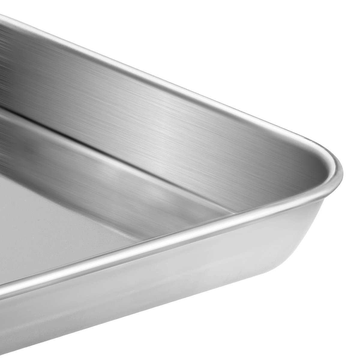 Stainless Steel Baking Sheets, HKJ Chef Baking Pans & Cookie Sheets for Oven & Mini Toaster Oven Tray Pans & Non Toxic & Healthy,Superior Mirror & Easy Clean by HKJ Chef (Image #5)