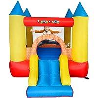 PLAY4FUN Château Gonflable pour Enfants 2,8m : Aire de Jeux Gonflable avec Toboggan - souffleur et Sac de Rangement Inclus - Castle Bouncer