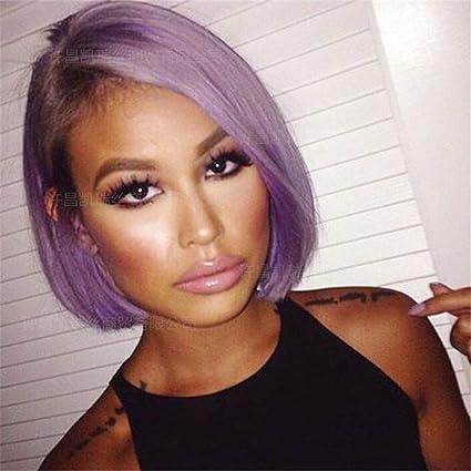 Amazoncom Bywigs Ombre Purple Short Bob Straight Wigs For Girls