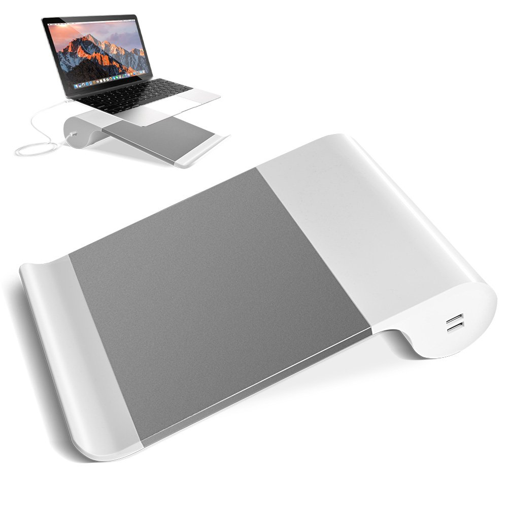 VAlinks Laptop Stand,2 in 1 Multi-Use MacBook Stand Notebook Holder Universal Laptop Charging Stand with Non-Slip Pads Compatible for MacBook Pro,All Notebook 15''