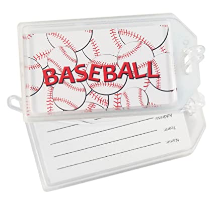 8f55ed356027 Baseball Luggage Tag - Set of 2 Luggage Tags