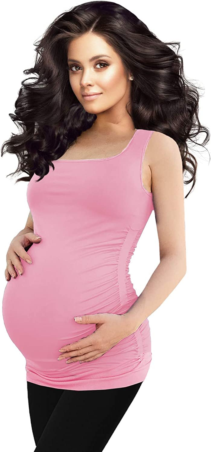 Cute Baby Pattern Print Maternity Tank Top Pregnancy Ladies Slim Fit Vest Blouse O Neck Fashion Camisole T Shirt Tee waitFOR Sleeveless//Short Sleeve Tops for Pregnant Women