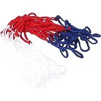 lpyfgtp - Rete da Basket Universale in Nylon, 5 mm, Colore: Rosso/Bianco/Blu