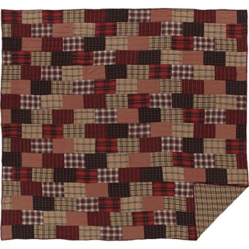 VHC Brands Rustic & Lodge Bedding - Wyatt Red Quilt King from VHC Brands