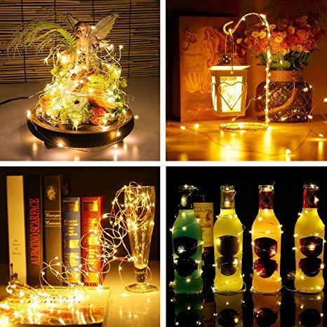 LED Fairy Lights, Elebor 33ft 100LED Remote Control Waterproof Deco Rope Lights Battery Operated String Lights Copper Wire Lights for Christmas, Indoor&Outdoor, Wedding, Party, Garden, Festival