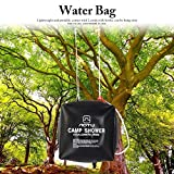 Vbestlife Solar Heated Shower Bag,40L Camping Shower Heating Outdoor Showering Water Storage Bag with Shower Head Camping