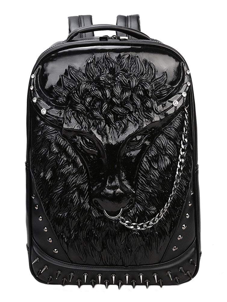 Backpack School Laptop Bag with Chain Nose Ring HN-10