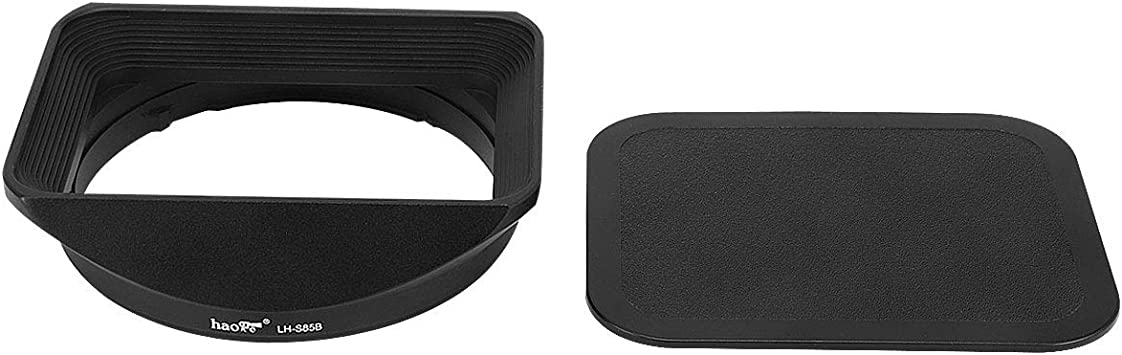 Haoge LH-S35B Bayonet Square Metal Lens Hood Shade with Cap for Sony Sonnar T FE 35mm F2.8 ZA SEL35F28Z and Sonnar T FE 55mm F1.8 ZA SEL55F18Z Lens