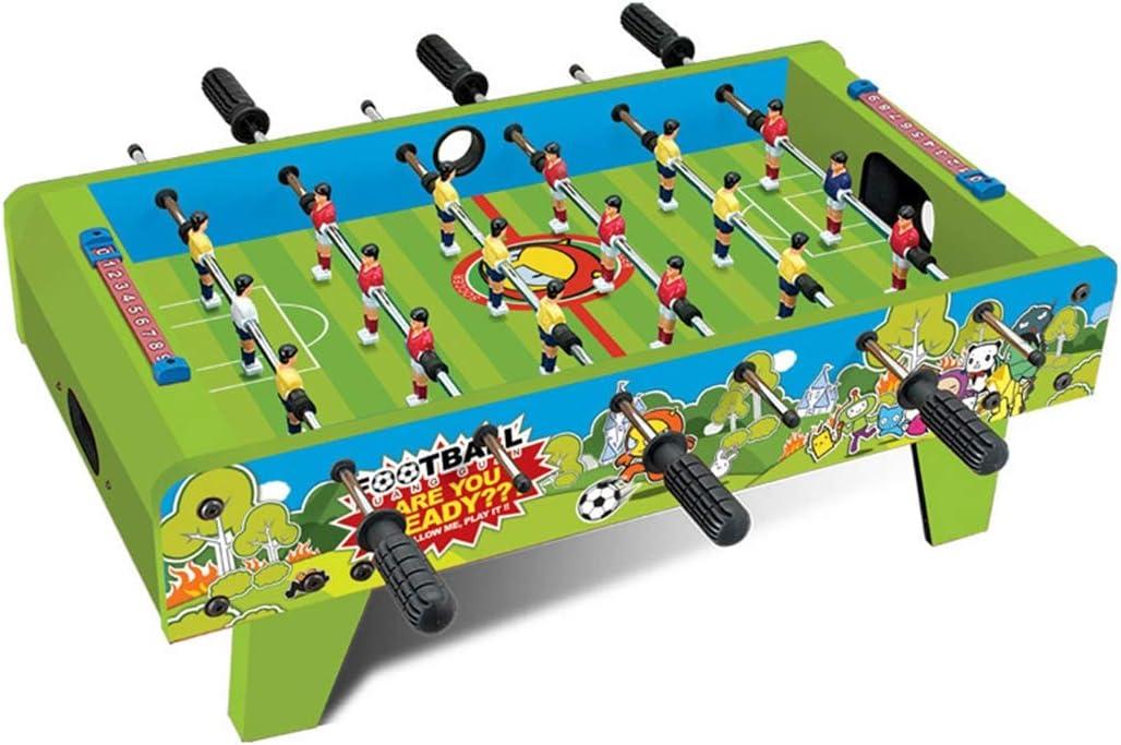 Zgifts Juegos de Mesa de futbolín de Mesa - Seis Postes Mini Mesa de Madera portátil Juego de fútbol Juego de Mesa Deportes con Patas para la Fiesta en casa Adultos Niños: