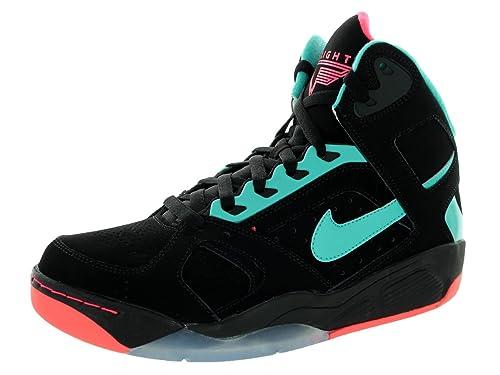 d06901daa5c21 Amazon.com: Nike Mens Air Flight Lite High Black/Hyper Jade/Hyper ...