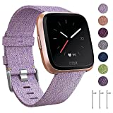 EZCO-Bands-Compatible-with-Fitbit-VersaVersa-Lite-Woven-Fabric-Breathable-Watch-Strap-Quick-Release-Replacemen