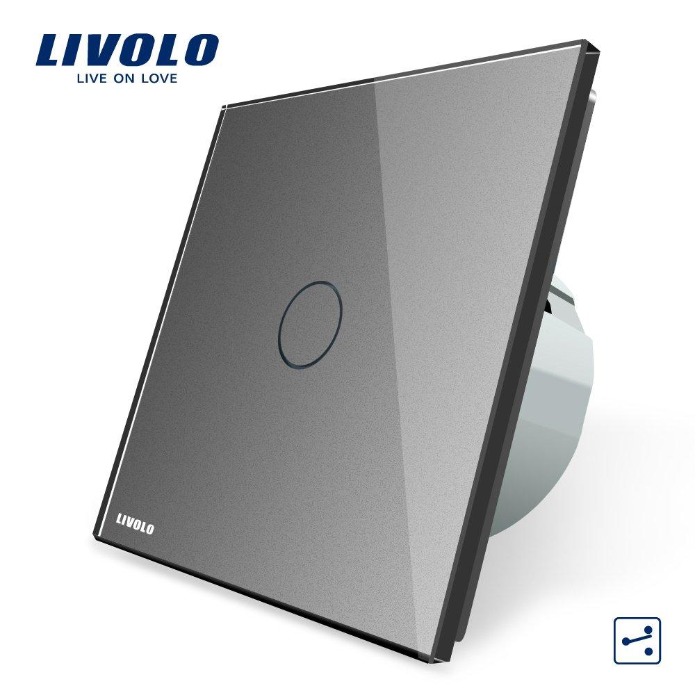 LIVOLO Grau Wechselschalter/Kreuzschalter mit LED Anzeige Licht ...