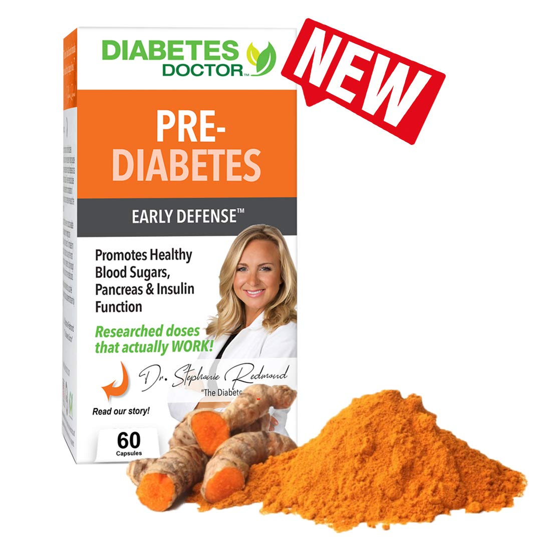 Diabetes Doctor Early Defense – Pre-Diabetes and Diabetes Support with Turmeric, Vitamin D, Banaba – Powerful 4 in 1 Blend to Promote Healthy Pancreas Function and Stabilize Blood Sugar Levels