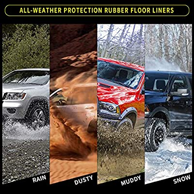 YITAMOTOR Floor Mats Compatible with Highlander, Custom fit Floor Liners for 2014-2020 Toyota Highlander, 1st & 2nd Row All Weather Protection: Automotive
