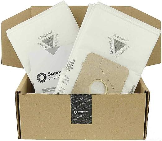 SpareHome - 10 Bolsas de Alto Rendimiento para aspiradores Ufesa, Bosch y Siemens: Amazon.es: Hogar