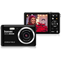 Mini Digital Camera for Photography with 2.8 Inch LCD 8X Digital Zoom, 20MP HD Digital Camera Rechargeable Point and Shoot Camera, Indoor Outdoor for Kids/Seniors/Learner(Black)