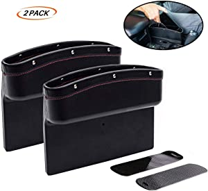 Fincy Palmoo Premium Car Seat Storage Pockets Box PU Leather Organizer Auto Gap Pocket Stowing Tidying for Phone Key Card Coin Case Accessoies,Car Interior Accessories