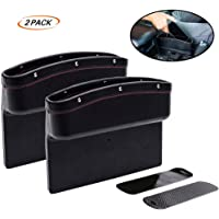 Fincy Palmoo Premium Car Seat Storage Pockets Box PU Leather Organizer Auto Gap Pocket Stowing Tidying for Phone Key…