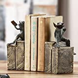 Bibliophile Frog Bookends