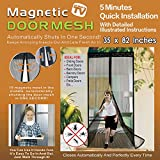 Magnetic Screen Door With Magnets Heavy Duty Mesh Curtain Full Frame Hook Loop,Door