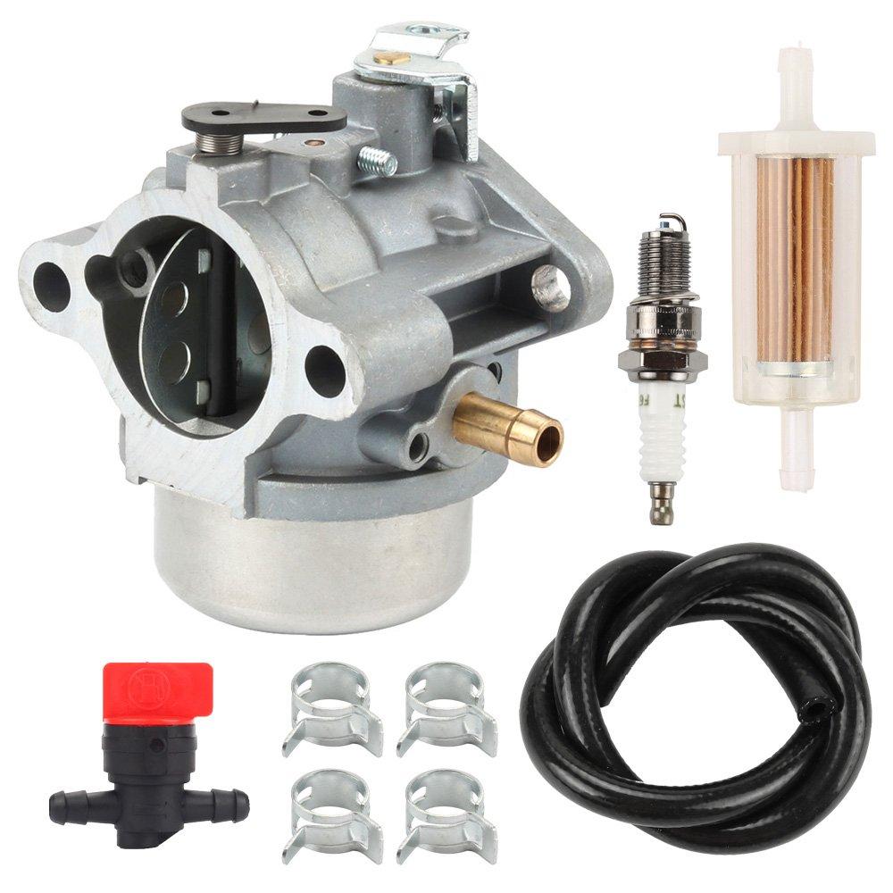 hilom am132119 am119661 am121865 carburador con filtro de combustible bujías para John Deere STX30 STX38 STX46 12.5hp césped Tractor cortacésped: Amazon.es: ...