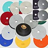 Diamond Polishing Pads 3'' inch Wet/Dry Set of 22+1 Backer Pad Best Value Granite Concrete 2 Pieces Final Glaze Buff = 24+1 Pieces