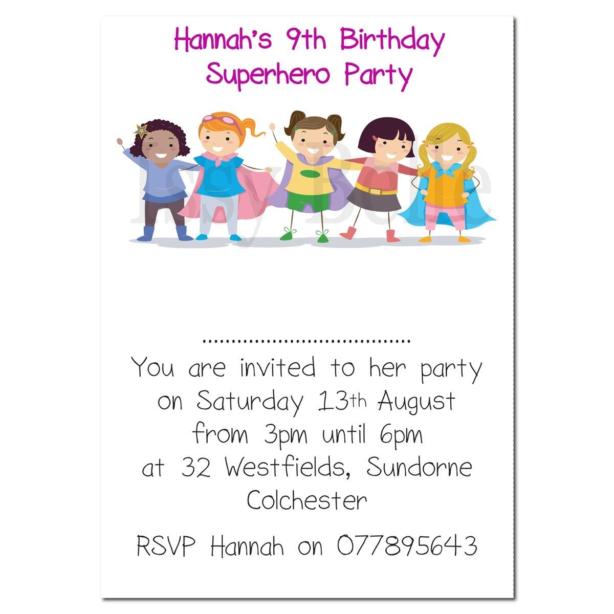 Personalizado invitar invitaciones de fiesta de cumpleaños ...