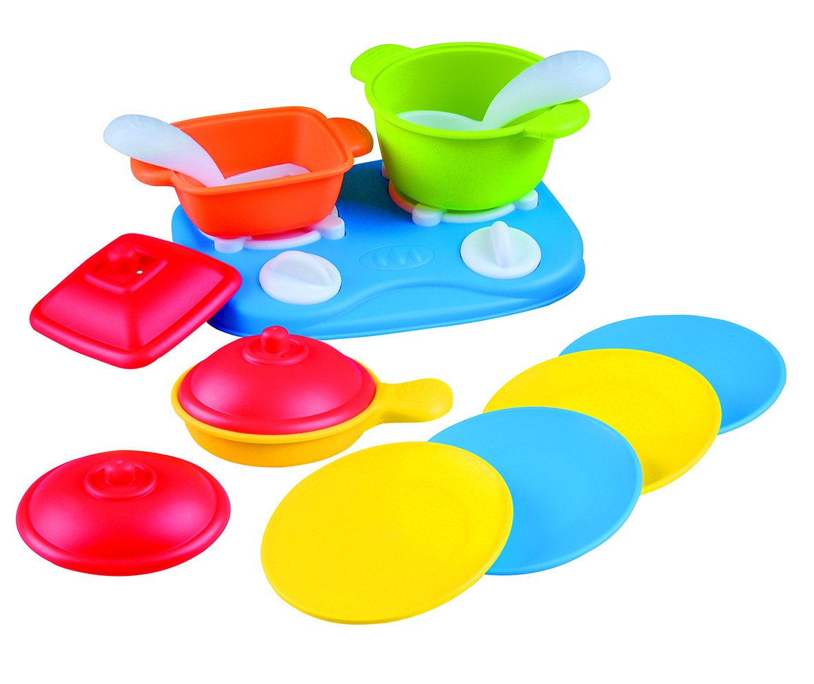 PlayGo Tabletop Cooking Range-13 Pcs Childrens Appliances