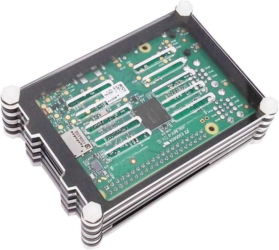 Raspberry PI 3B Box Raspberry PI CASE Black and Transparent with Fan