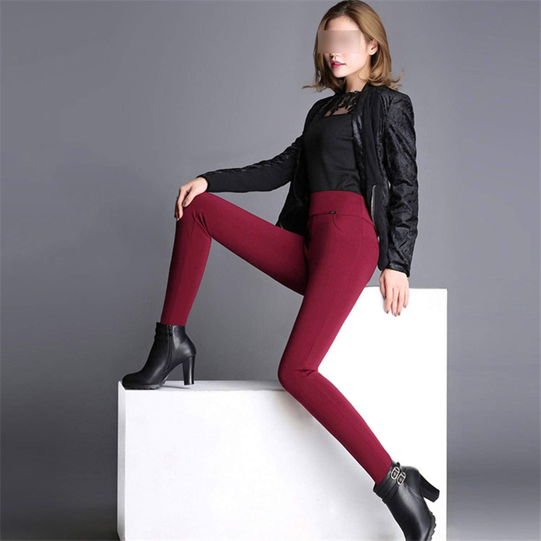 Womens Winter Plus Velvet Thick Warm Pencil Pants Leggings Ladies High Elastic Trouser Female Plus Size