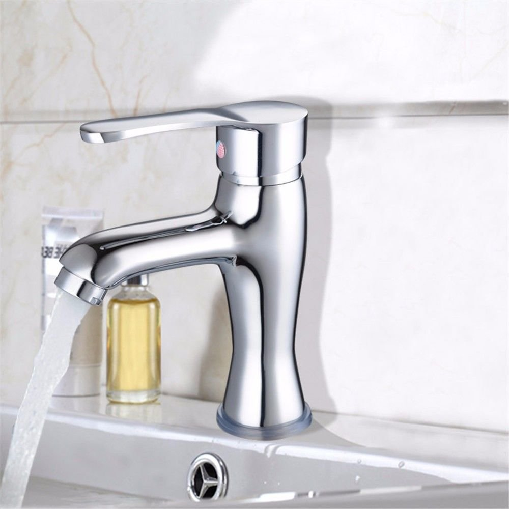 AQMMi Basin Sink Mixer Tap for Lavatory Brass Single Hole Bathroom Vanity Sink Faucet