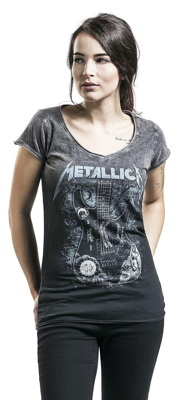 Metallica Ouija Guitar T-Shirt schwarz//grau
