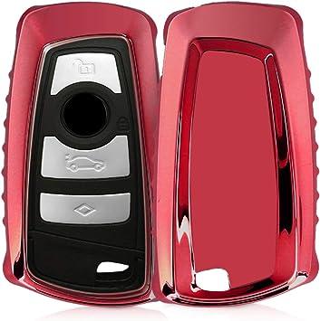 negro mate para llaves solamente Keyless Go - Carcasa suave de kwmobile Funda para llave con control remoto de 3 botones para coche BMW TPU Cover de mando y control de auto en