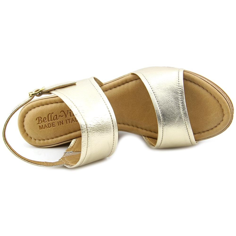 Bella Vita Women's Nicola Wedge Sandal B01A3HPDBU 11 2E US|Gold Platino