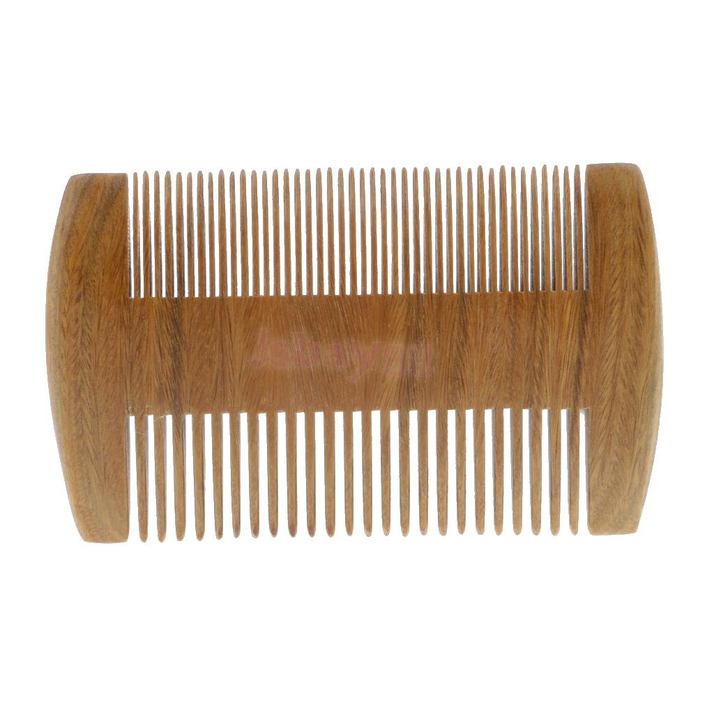 Demarkt Sides Wooden Beard Comb Wood Baby Comb& Women Comb Handmade Antistatic Pocket Size Beard Comb Natural Meterial (12cm)