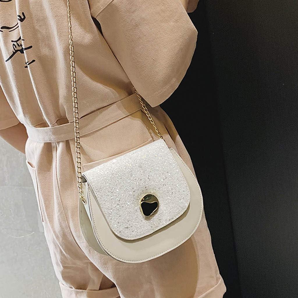 Messenger Bag for Women Sequined Saddle Bag Shoulder Bag Wild Diagonal Bag Chain Bag