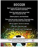 """Unframed Soccer Female Player Splatter 8"""" x 10"""" Sport Poster Print"""