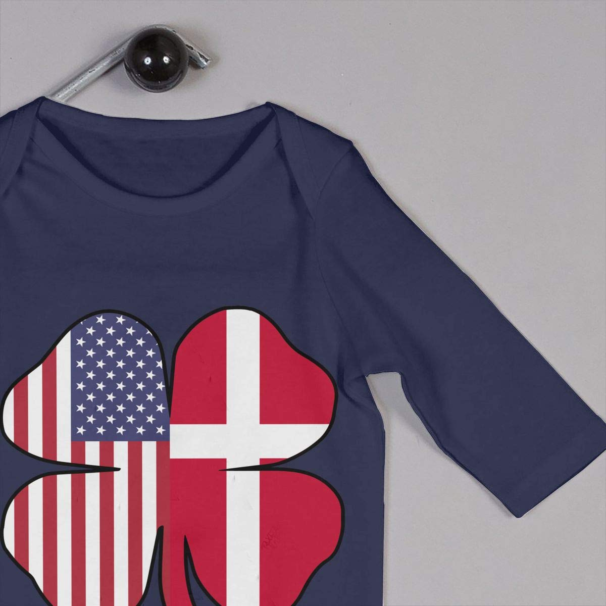Mri-le1 Newborn Baby Jumpsuit American Denmark Flag Shamrock Baby Rompers