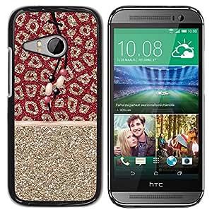 iKiki Tech / Estuche rígido - Gold Glitter Fur Pattern Indian - HTC ONE MINI 2 / M8 MINI